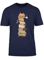 Kittens Cats Tea And Books Gift T Shirt