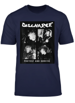 Mens Discharge Protest And Survive T Shirt