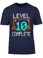 Kinder 10 Geburtstag Jungen Gamer 10 Jahre Level 10 Complete T Shirt