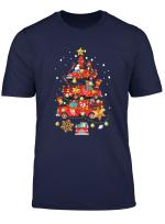 Firefighter Fire Truck Christmas Tree T Shirt