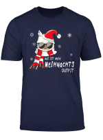 Lustig Weihnachtsoutfit Lama Merry Christmas Xmas Geschenk T Shirt
