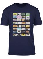 Cassette Tapes Mixtapes 1980S Radio Ghetto Blaster T Shirt