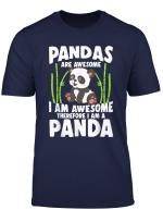 Panda Shirt Cute Panda Tshirt Pandas Are Awesome Panda Bear
