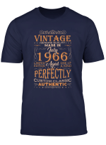 Vintage Authentic Made In 1966 53Rd Birthday Gift T Shirt