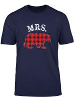 Mr And Mrs Bear Red Black Buffalo Plaid Mama Checkerboard T Shirt