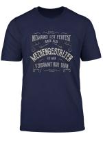 Herren Lustiger Spruch Beruf Mediengestalter T Shirt