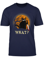 Cat What Funny Murderous Cat With Knife Halloween Costume T Shirt