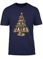 Funny Boxer Dog Christmas Tree Dog Lover Xmas Gifts T Shirt
