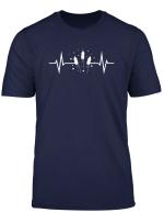 Feuerwerk Herzschlag Ekg Silvester Raketen Boller Pyros T Shirt