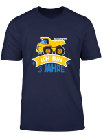 Kinder Geburtstagsshirt 3 Jahre Junge Kinder Baustelle Baumeister T Shirt
