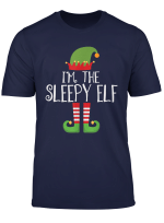 Sleepy Elf Matching Family Group Christmas Party Pajama T Shirt