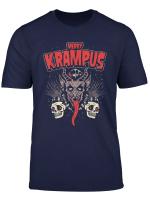 Merry Krampus Christmas Psychobilly Horror T Shirt Hr