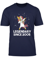 Legendary Since 2005 Funneh Dabbing Unicorn Birthday Gift T Shirt