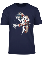 Welder American Flag Usa Patriotic Welder Gift T Shirt