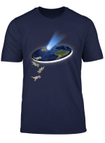 Funny Flat Earth Theorie Dinosaurier Extinktion T Shirt
