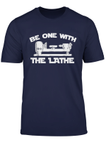 Be One With The Lathe Woodturning T Shirt
