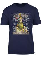 Shrek Donkey Puss Merry Shrekmas Holiday Text Poster T Shirt