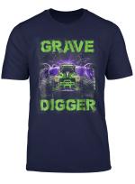 Monster Truck Shirt Grave Green Digger Racing T Shirts