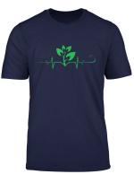 Plant Heartbeat T Shirt Vegan Plant Lover Shirt Gift