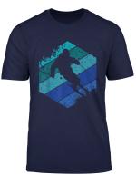 Skifahrer Retro Skipiste Wintersport Bergsport Ski Geschenk T Shirt