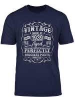 80 Years Old 1939 Vintage 80Th Birthday T Shirt Decorations T Shirt