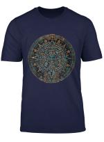 Maya Aztec Calendar Art Artifact T Shirt