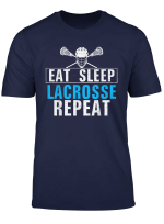 Vintage Eat Sleep Lacrosse Repeat Funny For Sports Love Gift T Shirt