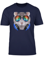 Dwarf Hamster As Dj Wearing Space Sunglass And Headphone T Shirt