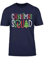 Christmas Squad T Shirt Family Matching Pajamas Xmas Tree