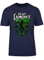 Clan Lamont Surname Scottish Tartan Lion Rampant Crest T Shirt