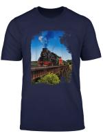 Dampflok Portrat Zug T Shirt I Eisenbahn Lokomotive