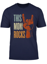 This Mom Rocks Rock N Roll Metal Gift For Cool Mother T Shirt