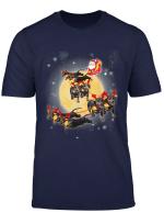 Dachshund Terrier Christmas Reindeer Dog Riding Santa Gift T Shirt