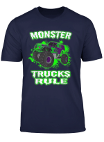 Awesome Monster Trucks Rule For Adults Youth And Toddlers T Shirt