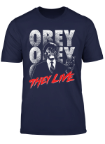 They Live Alien Obey Title Logo T Shirt