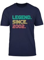 Legend Since 2002 Geburtstag 2002 Cool Geburtstagskind T Shirt