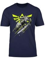Nintendo Zelda Link Neon Green Crest Graphic T Shirt