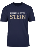 Fitnesslevel Stein Geschenk Fur Sportler T Shirt