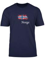 Norwegen Vintage Flagge Shirt
