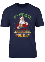 It S The Most Wonderful Time For A Beer Santa Claus Drinking T Shirt