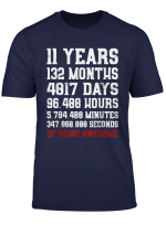11 Years Old Of Being Awesome T Shirt 11Th Birthday Tee Gift