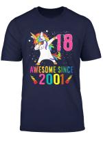 18 Years Old 18Th Birthday Unicorn Shirt Girl Daughter Gift