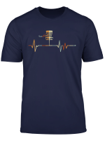 Vintage Disk Golf Heartbeat T Shirt Funny Disk Golf Gift