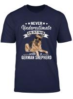 Mens Never Underestimate An Old Man German Shepherd Dog Tshirt T Shirt