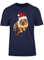 Quokka Santa Hat Cute Christmas Gift For Quokkas Lovers T Shirt