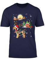 Airedale Terrier Dog Led Light Christmas 2019 Gift T Shirt