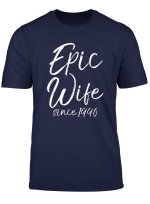 Matching 24Th Anniversary Couples Gifts Epic Wife Since 1996 T Shirt