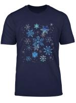 Watercolor Snow Crystal Winter Snowflake T Shirt