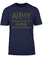 Funny Us Army Heroes T Shirt Gift Soldier Usa Military Tee