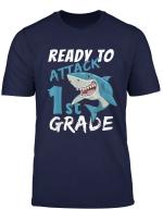 1St Grade Cute Shark Back To School Boys Gifts T Shirt